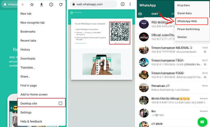 Whatsapp Web via Chrome